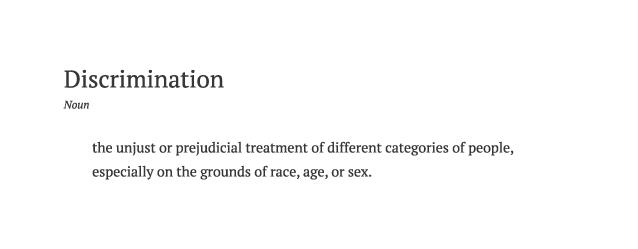 definition-discrimination