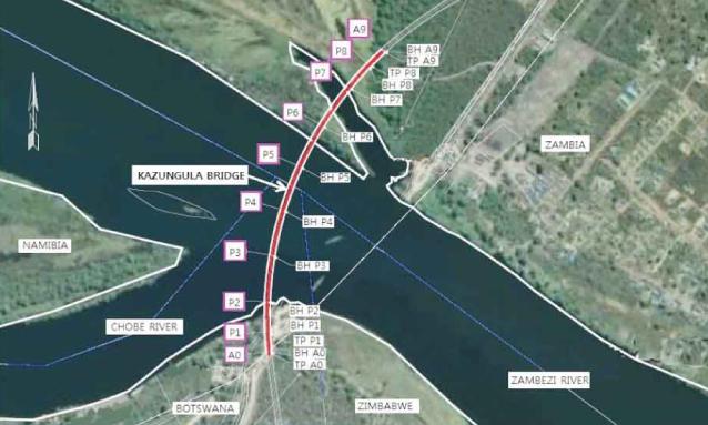 kazungula-bridge-map