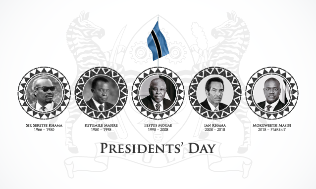 We pay homage to Botswana Presidents – past to present